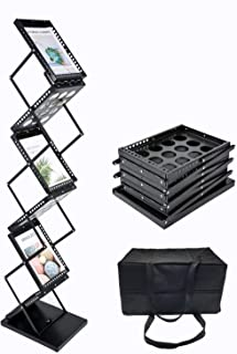 Polmart Brochure Magazine Catalog Literature Display Rack - 6 Pockets