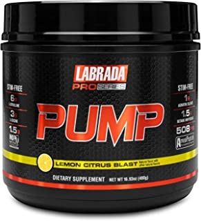 Labrada New Pro-Series PUMP - All-In-One Pre-Workout Supplement Powder Made From Patented Technology (480g, Lemon Citrus B...