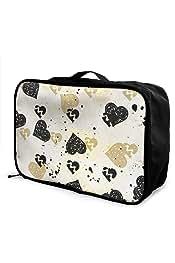 Travel Luggage Duffle Bag Lightweight Portable Handbag Art Abstract Large Capacity Waterproof Foldable Storage Tote
