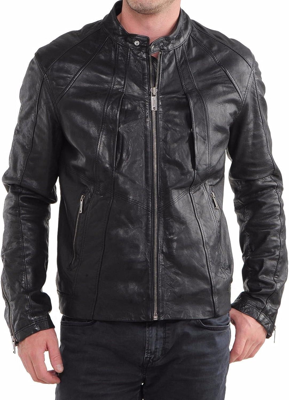 Zafy Leather Men's Lambskin Leather Jacket