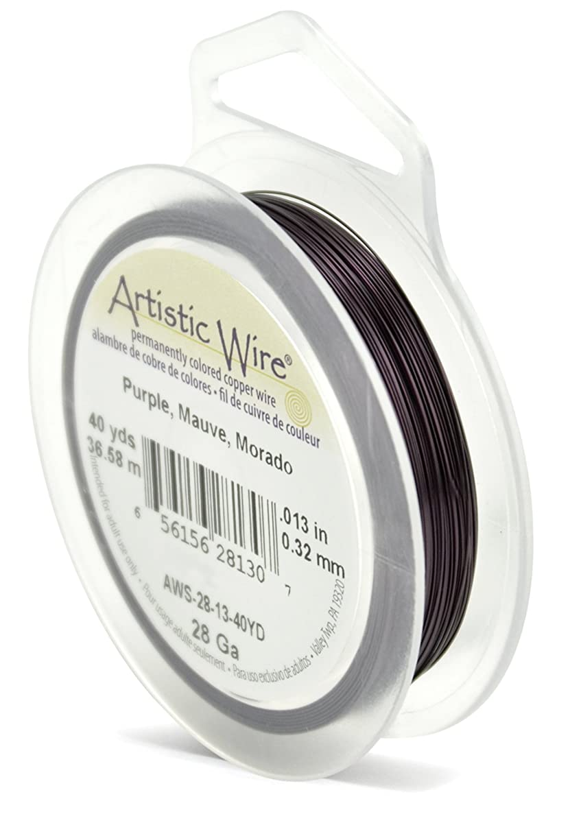 Beadalon Artistic Wire 28-Gauge Purple Wire, 40-Yards