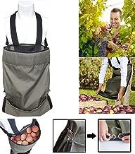 Harvest Garden Apron Fruit Picking Bag Vegetable Harvest Storage Pouch,Thickened Oxford Kitchen Harvest/Weeding Gown Bag Green Storage Pocket for Fruit/Vegetable,Adjustable Size (2 Pack, Green)