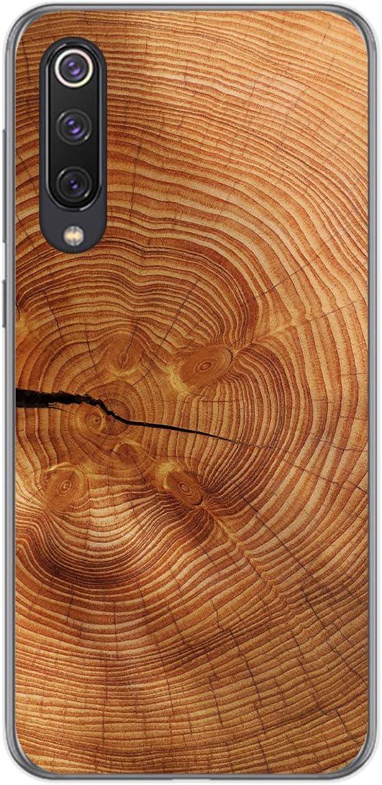 Tumundosmartphone Funda Gel TPU para Xiaomi Mi 9 SE diseño Madera 04 Dibujos