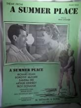 Theme From A Summer Place Sheet Music