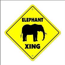 Elephant Crossing Sign Zone Xing   Indoor/Outdoor   12