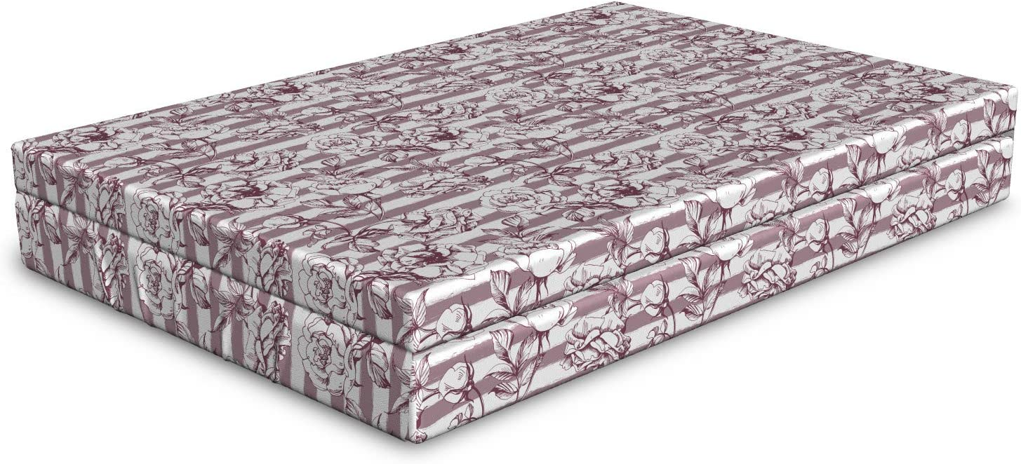 Ambesonne Floral Dog Bed Continuous Blossoming Peo Raleigh Mall Romance Free shipping on posting reviews Wild