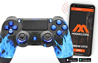 PS4 PRO Rapid Fire Custom MODDED Controller Exclusive Unique Designs - CUH-ZCT2U… (Multiple Designs Available) (Chrome Blu...