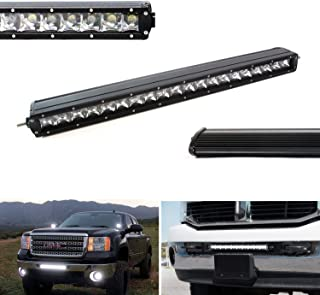 iJDMTOY 21-Inch 100W CREE Single-Row Slim LED Light Bar For Truck Jeep Off-Road 4x4 ATV SUV (Spot Beam Pattern)