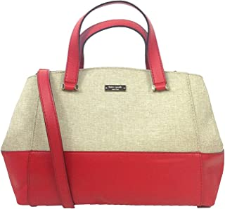 Kate Spade 'Charlotte Street' Large Sloan, Deep Blaze Red/Natural