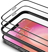 TAMOWA 2 Pack Screen Protector Compatible with iPhone 12 Pro/iPhone 12 (6.1 Inch), Edge to Edge Coverage Screen Protector ...