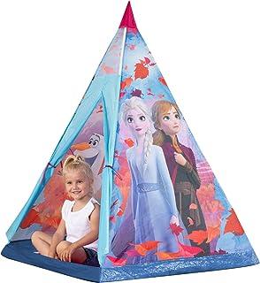 John 75107A plaststänger Disney isdrottning tipi lektält, barntält, lekhus med froster 2 motiv, lila