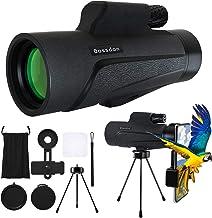 Bossdan 12×50 Monocular Telescope for Smartphone Holder-Portable Handheld Telescope&IPX5 Waterproof Monocular,BAK4 Prism f...