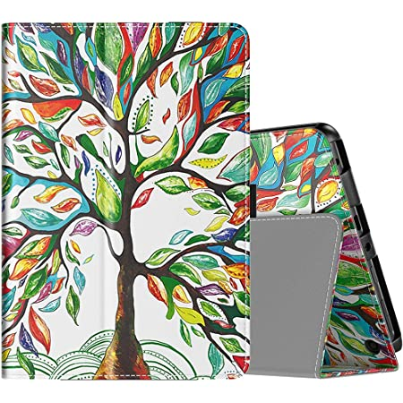 TiMOVO Folio Case for All-New Kindle Fire HD 8 Tablet (10th Generation, 2020 Release) and Fire HD 8 Plus Tablet, Slim Folding PU Leather Stand Cover Case with Auto Wake/Sleep - Lucky Tree