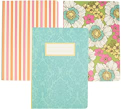 C.R. Gibson (Set Of 3) Soft Notebook Writing Journal For Women Men School Office Supplies Diary For Girls Boys