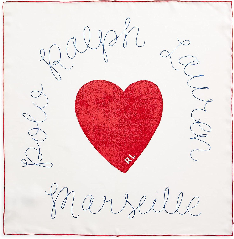 Polo Ralph Lauren Women`s Heart Silk Bandanna