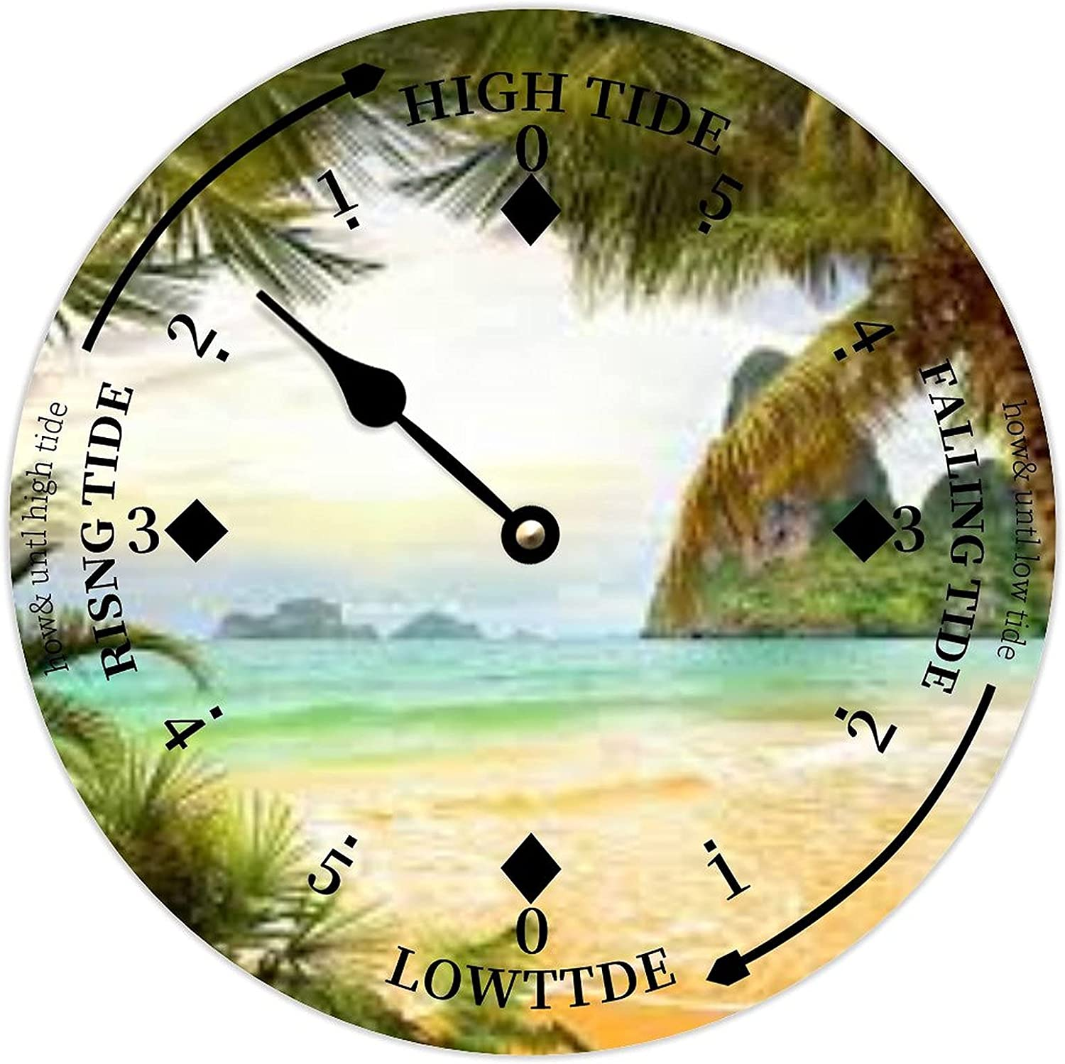 Round Wooden Tidal Wall Clock Max 42% OFF 12