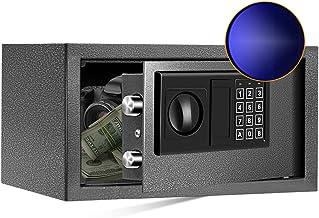 SamYerSafe Safe Box with Sensor Light, 0.55 Cubic Feet Security Safe with Electronic Digital Keypad Money Safe Steel Const...