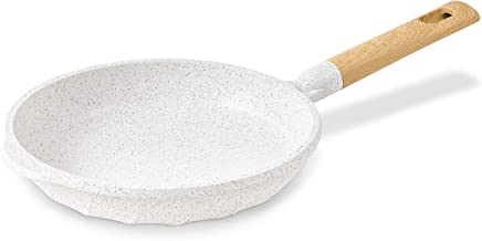 Nonstick Frying Pan 100% PFOA Free Cookware Induction Skillet Fry Pan 10.2 Inch - White