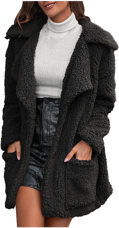 Women Plush Coat Winter Portland Mall Soft Warm Fleece free shipping Out Sleeve Long Thicken