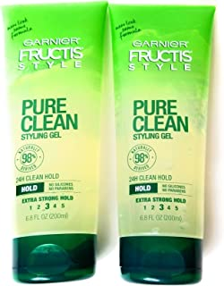 Garnier Fructis Style Pure Clean Styling Gel 6.8 oz (Pack of 2)