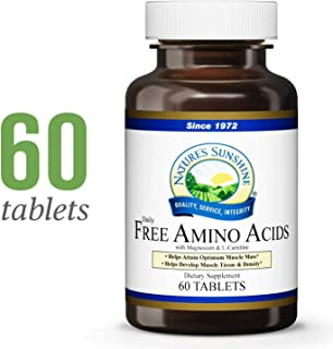 Nature's Sunshine Free Amino Acids, 60 Tablets | Helps Develop, Build, and Maintain Muscle Tissue While Supporting Muscle Strength and Endurance