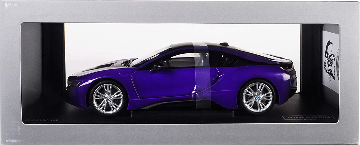 BMW New product! New type i8 Purple with Black Max 72% OFF Top 1 Paragon Diecast 9 Car 18 Model by
