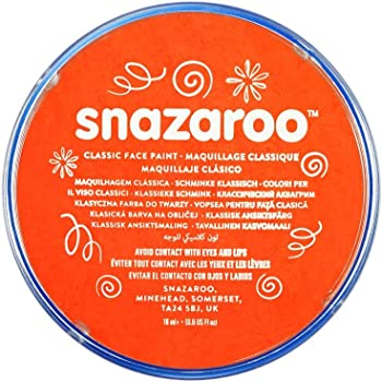 Snazaroo SZ1118552 Dark Orange Classic Body Paint-1 Pc, 18 ml