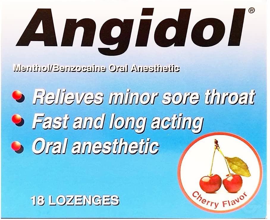 Ranking integrated 1st place Angidol Oral Anesthetic Lozenges Max 86% OFF 12