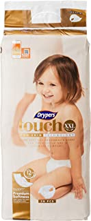 Drypers Touch Diapers Case, XXL, 3 packs x 36 Count