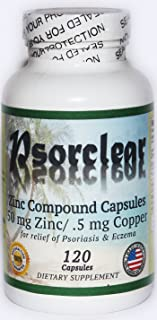 Psorclear-100% Natural Treatment for Psoriasis and Eczema (120 Count)