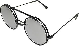 c8a6bddd6a WebDeals - anteojos de sol redondas de metal, diseño de jango Steampunk
