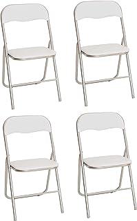 La Silla Española - Pack 4 Sillas plegables fabricadas en aluminio con asiento y respaldo acolchado