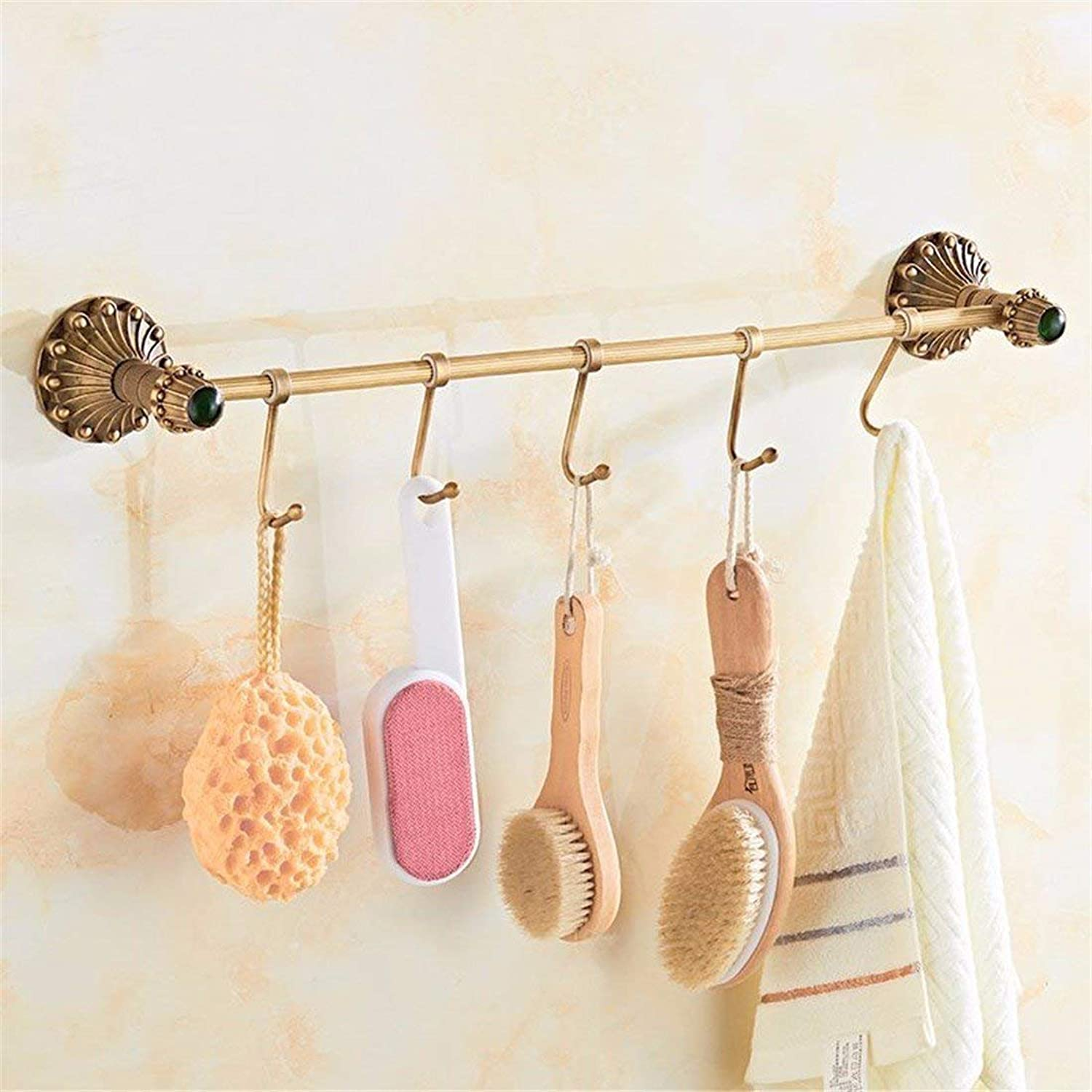 European Green Retro Pendentif Antique Copper Bathroom Dry-Towels,Game of Simple Rod Rack