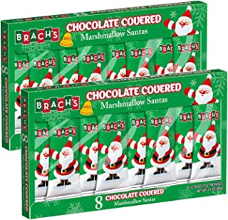 Brach's Milk Chocolate Covered Marshmallow Santa's, 3.1 oz (Pack of 2)