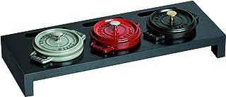 STAUB Cast Iron - 3 Mini Casseroles Display Shelf- Wooden Black