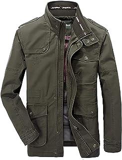 HX fashion Cappotto da Uomo Cotone Classico per in Il Tempo Taglie Comode Libero Esercito Militare Giacche Cappotti da Uom...
