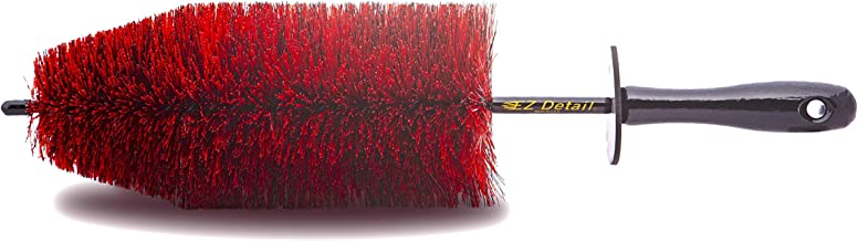EZ Detail Brush Big - Red - Wheel Rim Cleaner for Cars, Bike, Trucks, Motorcycle, and Other Vehicles. Non-Scratch Auto Detailing Tool, Easily reaches Nook and Crannies