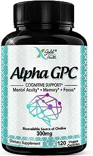 Sponsored Ad - Alpha GPC Choline Supplement 300mg, 120 Veggie Capsules, Cognitive Enhancer Nootropic, Supports Memory & Br...