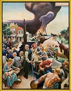 Framed Thomas Hart Benton Giclee Canvas Print Paintings Poster Reproduction(Bentonweb Thumb) #XLK