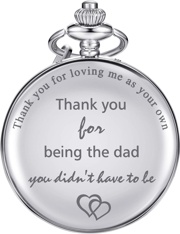Dad New life Gifts Quartz Pocket Watch for Father-in-law Max 41% OFF Stepdad birthda