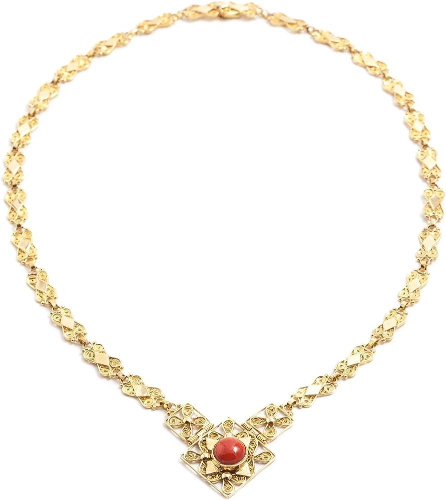 Girocollo oro con corallo centrale marrocu gioielli GRLC468240