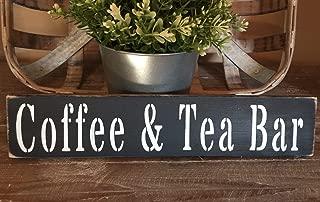 Dozili Rustic Wood Sign Coffee Tea Bar Country Farmhouse Home Decor Kitchen