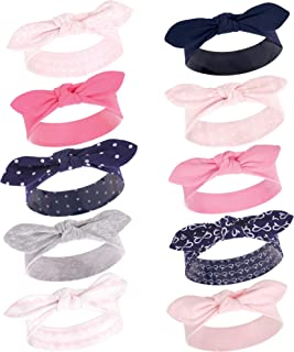 Hudson Baby Baby Girls' Cotton and Synthetic Headbands