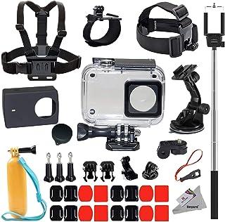 Deyard 35 in 1 Accessories Kit for Xiaomi Yi 4k Yi Lite Yi 4k Plus Action Camera Waterproof Case Housing Chest Harness Mount Wrist Head Strap Mount Floating Hand Grip Selfie Stick