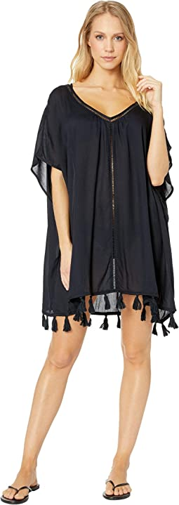 Poncho Cover-Up Swimsuit Dress