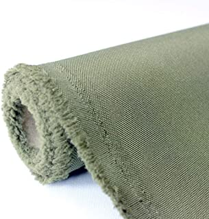 Waterproof Canvas Fabric Outdoor 600 Denier Indoor/Outdoor Fabric by The Yard PU Backing UV Protector Canvas Marine Awninig Fabric Foliage (5yards)