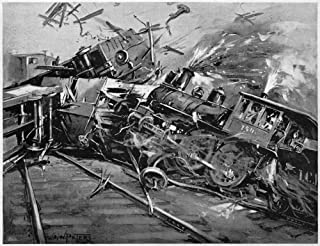 Pullman Strike 1894 Ncrash Staged By Pullman Company Strikers Who Drove A Switch Engine (Without An Engineer) At Full Spee...