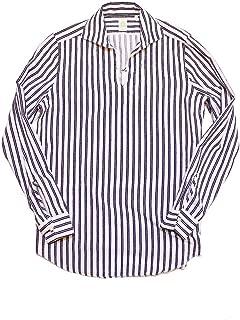 [フィナモレ]FINAMORE MINORCA カプリシャツ WHITE/NAVY