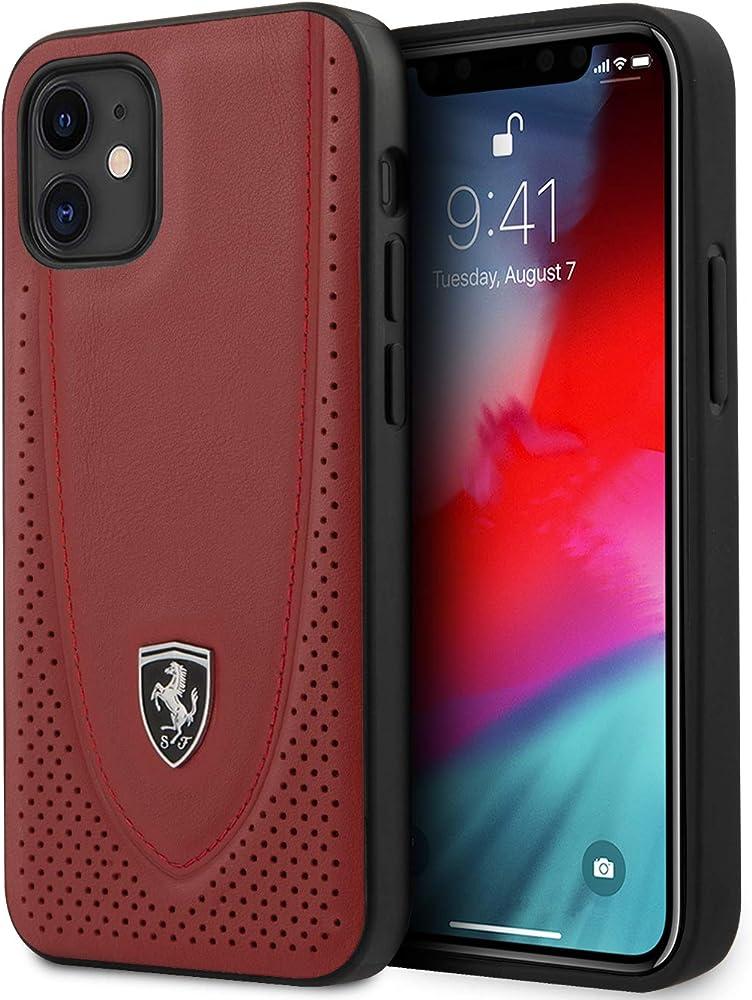 Ferrari custodia per iphone 12 mini 12/12 pro in pelle FEOGOHCP12SRE