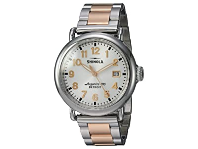 Shinola Detroit The Runwell 36mm 20089898 (Polished Stainless Steel/PVD Rose Gold Bracelet/White Dial) Watches